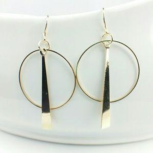 NEW Golden Modern Hoop Earrings